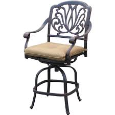 darlee elisabeth cast aluminum patio counter height swivel bar stool
