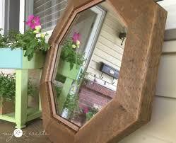 side shot of octagon mirror