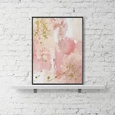 modern printable wall art pastel print abstract paint watercolor poster pink gold wall art contemporary paint on pink and gold flower wall art with modern printable wall art pastel print abstract paint watercolor