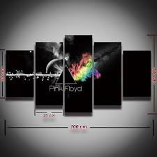 >5 panel pink floyd rock music canvas for mancave manseemanwant