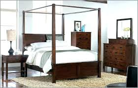North Shore King Canopy Bed California In Dark Wood – LisaCintosh
