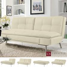 easily converts from a sofa position to lounger or bed position