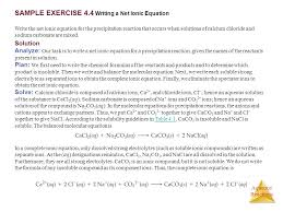 sample exercise 4 4 writing a net ionic equation