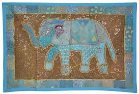 image is loading vintage wall hanging elephant embroidered cotton indian tapestry uk