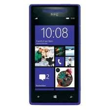 htc x8. htc 8x 8gb c625b at\u0026t unlocked gsm windows 8 os blue cell phone htc x8