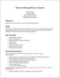 Resume Template Download Resume Restaurant Server Resume Sample