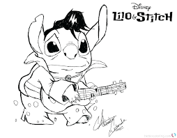 Lilo And Stitch Angel Coloring Pages Stitch And Angel Coloring Pages