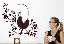Small Picture Julie Floral Wall Decal Flower Branches with Birds