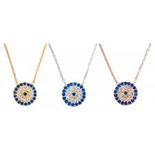 evil eye necklace 10mm diam midi size
