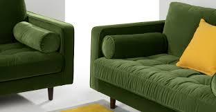 Grass Couch Scott 3 Seater Sofa Grass Cotton Velvet Madecom