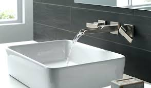 waterfall faucets for bathroom sinks wall waterfall bathroom vessel sink faucet oil rubbed bronze