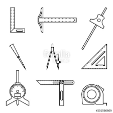 Type of measuring tools Different Types Different Kinds Of Measuring Tools Vector Thin Line Fotolia Different Kinds Of Measuring Tools Vector Thin Line