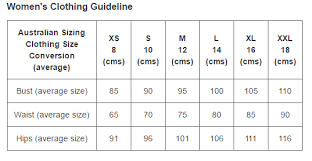 Our Size Chart Guideline Niks Keeks