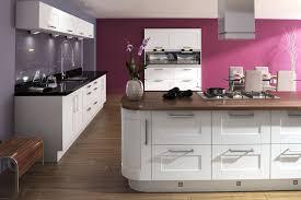 White shaker kitcehn, black granite & dark wood (walnut?) worktops  Replacement  Kitchen DoorsHigh Gloss ...