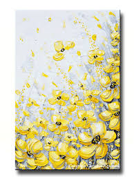 GICLEE PRINT Art Yellow Grey Abstract Painting Coastal Canvas Prints  Vertical Gold White Wall Decor