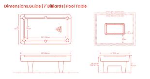 Meters To Feet Height Chart 7 Foot Billiards Pool Table Dimensions Drawings