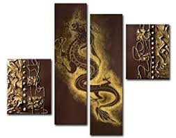 Small Picture Amazoncom Sangu 100 Hand Painted Wood Framed Dragon Dance