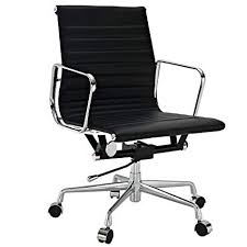 eames reproduction office chair. Brilliant Office EMODERN FURNITURE Eames Style Aluminum Group Management Office Chair  Reproduction Leather Black On L