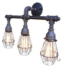 fascinating cage light fixture vanity 3 with wire cages industrial ceiling47