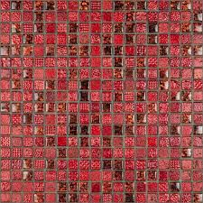 ce decor series red marble glass mosaic 300x300x8mm