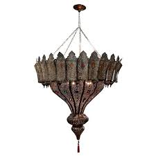 high end large hanging moroccan filigree brass light fixture this moroccan handcrafted brass chandelier is rewired and ready to use