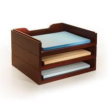 Desk Organizer Stack Style Wood Desk Organizer Cherry Office Desk