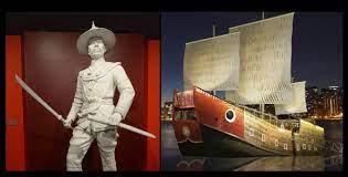 """นิทรรศการ """"250 ปี กรุงธนบุรีศรีมหาสมุทร"""" ถึง พิพิธภัณฑ์ """"ศรีมหาสมุทร""""  พิพิธภัณฑ์ลอยน้ำครั้งแรกของไทย"""