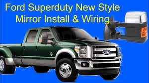 wiring ford mirrors simple wiring diagram ford superduty new style mirror install and wiring compass temp mirror wiring ford ford superduty