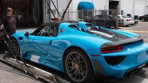 porsche 918 spyder blue. porsche 918 spyder with riviera blue paint and weissach package arrives in united states