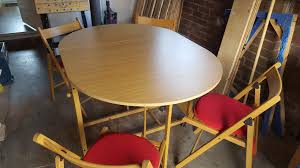 used argos erfly extension oval wood effect table 4 chairs