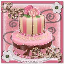 Dazzle Junction Happy Birthday Pink Birthday Cake Picture Image Graphic