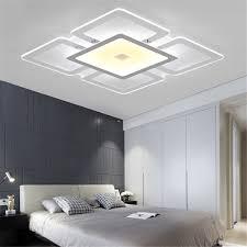 modern rectangular acrylic led ceiling light living room