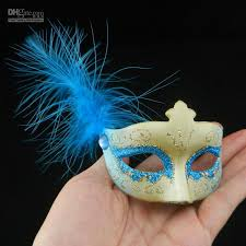 Decorative Masquerade Masks New Mini Feather Mask Venetian Masquerade Party Decoration 7