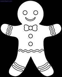 gingerbread cookie clipart black and white. Wonderful Gingerbread Vector Transparent Outline Sweet Clip Art Free Stock Clipart Gingerbread  Man On Gingerbread Cookie Black And White R