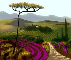 tuscan painting tuscan countryside by larry cirigliano