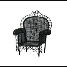 dolls house black wire wrought iron