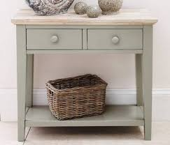 green painted furniture. 2 Drawer Console Table. Statement Furniture - Florence Sage Green Painted
