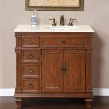 single sink traditional bathroom vanities. The Benefit Of Using Cherry Wood For Bathroom Vanity : Traditional Design With Brown Wooden Single Sink Vanities A