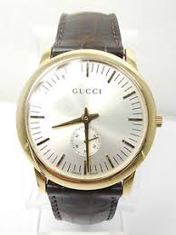 gucci 5600m. image is loading gucci-5600m-mens-watch-18kt-yellow-gold-leather- gucci 5600m
