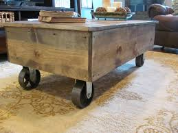 ... Coffee Table, Enchanting Teak Rectangle Antique Wood Coffee Table On  Casters On Wheels Idea To ...