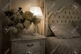 Luxus Königlichen Innenraum Luxuriöses Bett Mit Kissen Und