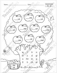 Phonics is a method of teaching kids to learn to read by helping them to match the sounds of letters, and groups of letters, to distinguish words. Variant Vowels Ew Ue Phonics Tree Printable Skills Sheets
