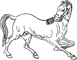 Horses come in a number. Black And White Horse Coloring Pages Horse5 Printable Coloring4free Coloring4free Com