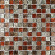 Bangkok Multicolour Stone Effect Glass & Marble Mosaic Tile, (L)300mm  (W)300mm | Departments | DIY at B&Q