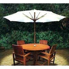 plastic outdoor table th umbrella hole folding patio dining set round cover small sets with inser