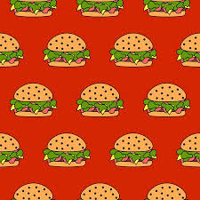cheeseburger pattern. Brilliant Cheeseburger Seamless Meat Burger Pattern Vector Fast Food Cheeseburger Red Background  Stock Photo  101151100 In Cheeseburger Pattern E