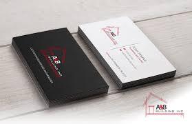 Elegant Playful Home Builder Business Card Design For A And B