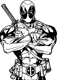 Small Picture Deadpool All Is Ok Coloring Page Wecoloringpage