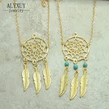 Dream Catcher Gold Bracelet New Fashion Accessories Jewelry Chain Link Dream Catcher Charm 94