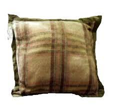 plaid pillow chri madden on john deere baby blanket